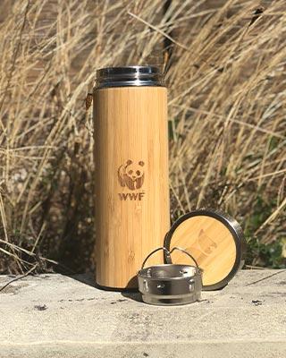 Retulp bamboe beker gravering - WWF